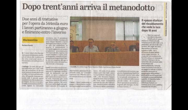 giornale di Brescia 25 aprile 2018
